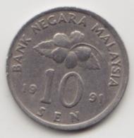 @Y@   Maleisië     10  Sen   1991     (4123) - Maleisië