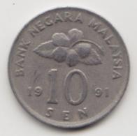 @Y@   Maleisië     10  Sen   1991     (4124) - Maleisië
