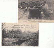 """Guerre 1914 -Villers Au Vent - 2 Cartes """" Souterrain Où Séjourna Le Kronprinz Pendant La Bataille """" :  Achat Immédiat - Guerre 1914-18"""