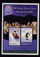 Micronesia (Sc# 487a), MNH, (Complete Set S/S Of 2)  2002 Winter Olympics, Salt Lake, City USA   (2002) - Micronesia