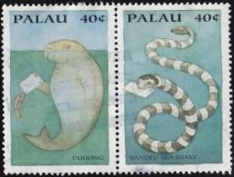 "PALAU - Scott #335c & 335d International Stamp Exhibition ""PHILAKOREA '94"", Seoul / Used Stamp - Palau"