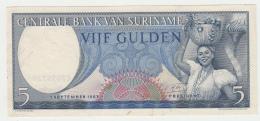 Suriname 5 Gulden 1963 VF+ Pick 120b - Surinam