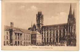 CPA Rouen Place De L'Hôtel De Ville N° 433 - Rouen