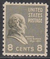 UNITED STATES      SCOTT NO.  813      MNH      YEAR  1938