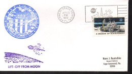 USA    FDC 1972  Espace  Fusée  Apollo 16 - Briefe U. Dokumente