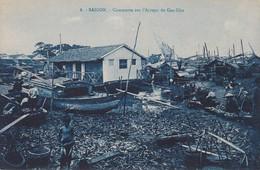 ASIE---VIÊT-NAM---SAIGON---commerce Sur L'arrayo De Cau-kho---voir 2 Scans - Viêt-Nam