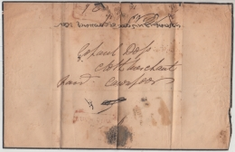 India  1849  Handstruck  Pre Stamp Mourning  Sheet Lucknow To Cawnpore   #  93098  Inde  Indien - ...-1852 Prephilately