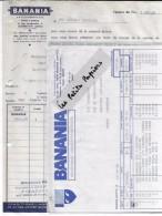 92 - Hauts-de-seine - COURBEVOIE - Facture BANANIA - Cacao En Poudre – 1942 - REF 253 - France