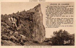 CPA LA DENT DU MARAIS AU SAUT DE LA PUCELLE - LEGENDE DU CHAMBON - France