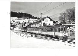 18983 - Chemin De Fer Train Rame Moderne Gare De Sainte-Croix Photo Hadorn 1988 BVA  (format 10X15) - VD Waadt