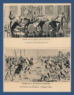 SCÈNES DE LA RÉVOLUTION FRANÇAISE - 2 CARTES NEUVES (VERS 1910-20) :WATTIGNIES + COMITÉ DE SALUT PUBLIC - Histoire