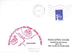 BH  BATIMENT HYDROGRAPHIQUE BORDA MISSION EN  MER ROUGE GOLFE D'ADEN BPI 610   07/03/05 - Marcophilie (Lettres)