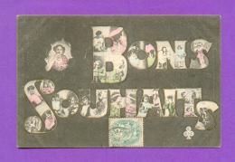 """CPA  FANTAISE  ~   """" Bons Souhaits """"  ( CC&CC ) - Fantasia"""