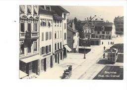 18990 - Chemin De Fer Tram Bienne Rue Du Canal Vers 1915 Reproduction  BVA  (format 10X15) - BE Berne