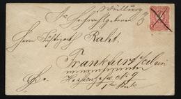 D.R.Nr.33 Handschriftliche Entwertung Mit Ankunftsstempel Frankfurt (126) - Allemagne