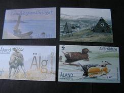 Aland 4 Booklets  Lot  ** MNH  Unter Postpreis - Aland