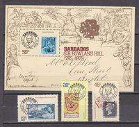 Barbados 1979 Sir Rowland Hill 3v + M/s  ** Mnh (33837) - Barbados (1966-...)