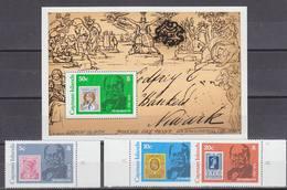 Cayman Islands 979 Sir Rowland Hill 3v + M/s ** Mnh (33838) - Kaaiman Eilanden