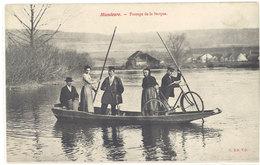 Cpa Mandeure - Passage De La Barque ( Bac )    ((S.1137)) - Autres Communes