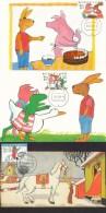 D27524 - 3 CARTES MAXIMUM CARDS FD 1998 NETHERLANDS - COMPLETE SERIES - ANIMAL ILLUSTRAT. MAX VELTHUYS VHK CP ORIGINAL - Childhood & Youth