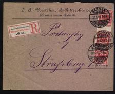 D.R.47c Mit Zwischensteg,gep. (126) - Briefe U. Dokumente
