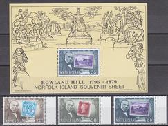 Norfolk Island 1979 Sir Rowland Hill 3v + M/s  ** Mnh (33843) - Norfolk Eiland