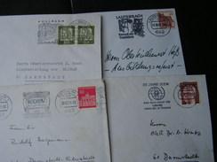 BRD 4 Briefe Stempel Mit Reklame Z, Fellbach Oder Lauterbach - Briefmarken