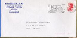 FRANCE -  LE CREUSOT  -  TOUR EIFFEL   TGV - Monuments
