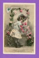CPA  FANTAISE  ENFANTS  ~   601  Heureuse Année  ( Ed. Logo Cloche Ailée ) - Autres