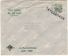 AB Industrius Company Letter Cover Travelled 1960? Malmo To Thürl Bei Aflenz Bb161128