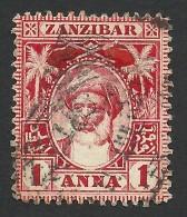 Zanzibar, 1 A, 1901, Sc # 64, Mi # 53, Used. - Zanzibar (...-1963)
