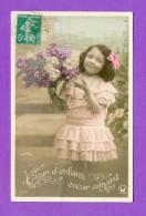 CPA  FANTAISE  ENFANTS  ~   3648  Cœur D'enfant, Cœur Aimant  (  Croissant 1909 ) - Fantaisies