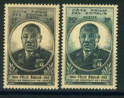 COTE DES SOMALIS  ( POSTE ) : Y&T  N°  262/263  TIMBRES  NEUFS   SANS  TRACE  DE  CHARNIERE , A  VOIR . - Côte Française Des Somalis (1894-1967)