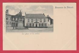 Beloeil - La Place Et La Statue  - Hôtel De France ( Voir Verso ) - Beloeil