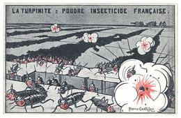 Cpa Signée Chatillon - La Turpinite, Poudre Insecticide Française  ( Anti-allemande / Cafards )   ((S.1162)) - Otros Ilustradores