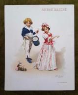 Grand Chromo Au Bon Marché - Le Tambour Illustré Par Jules Girardet - Au Bon Marché