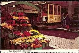 San Francisco, Cable Car, Flower Stand - Etats-Unis