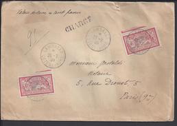 FR - 1905 - Affranchissement Merson 80 Cts Sur Enveloppe Chargée, Valeur Déclarée, De Lamballe Vers Paris - - France