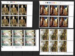 GB 1968 QEII British Paintings Set In MNH Corner Blocks Of 6, (4803) - Blocks & Miniature Sheets