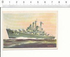 Chromo Cigarettes Virginia / DES MOINES War Ship US Navy Croiseur Marine De Guerre Navire Bateau / IM 01-boat-1 - Cigarette Cards