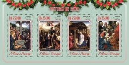 S. TOME & PRINCIPE 2014 - Christmas, Donkey - YT 4714-7; CV = 15 €