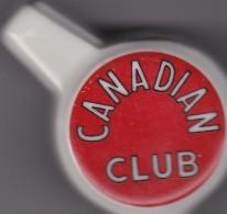 CANADIAN CLUB-WHISKY-BOTTLE-DISPENSER-PORCELAIN-ANTIQUE PIECE - Alcools