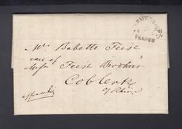 USA Brief August Belmont I Und Frau Caroline 1854 Als Botschafter In Haag An Schwester Bebette Feist - Autographs