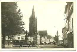 Eeklo Monument Et Grand Place Photo Carte Standbeeld En Groote Markt - Eeklo
