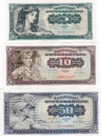 5-10-50 Dinara 1965 Small Numeration !!! UNC - Yougoslavie