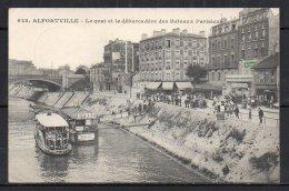 94-Alfortville, Le Quai Et Le Bébarcadère Des Bateaux Parisiens - Alfortville