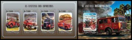 S. TOME & PRINCIPE 2014 - Fire Engines - YT 4730-3 + BF789; CV = 29 € - Auto's