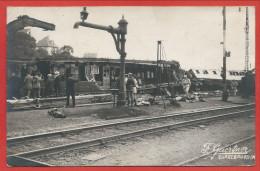 57 - SARREBOURG - Carte Photo - Accident Chemin De Fer - Déraillement - Gare - Wagons - Catastrophe Ferrovière - Sarrebourg