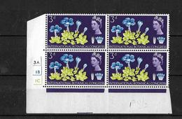 GB 1966 QEII Botanical Congress 3d MNH Corner Block Of 4 (4854) - Blocks & Miniature Sheets