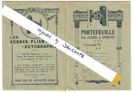 Foto/Photo. Pochette/Portefeuille Kodak Pliants Autographic. - Matériel & Accessoires